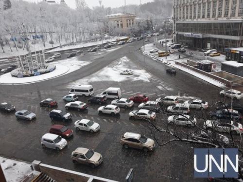 Photo of На подъезде к центру Киева утром пробки