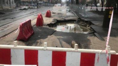 Photo of В Киеве из-за аварии на сетях водоснабжения ограничено движение транспорта