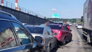 Photo of Масштабное ДТП на Южном мосту: столкнулись шесть автомобилей, образовалась пробка