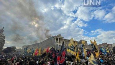 Photo of В центре Киева начался марш ко Дню защитников Украины