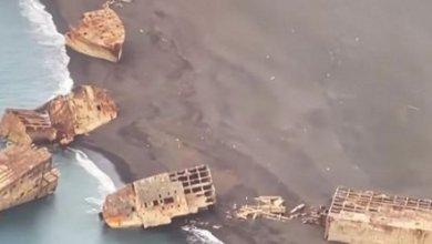 Photo of В Японии после землетрясения всплыли «корабли-призраки» времен Второй мировой