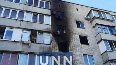 Photo of В Киеве в районе Бортничей горит квартира: есть пострадавший